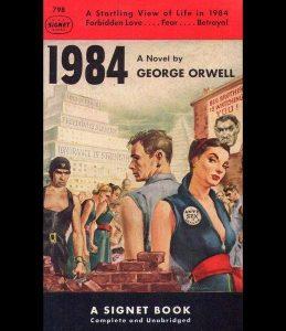 Portada del libro de George Orwell, 1984 (Esquire).