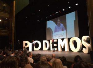 Podemos, durante la presentación de su programa para el 24-m¡M (Podemos).