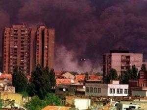 Bombardeo de la OTAN sobre Yugoslavia.