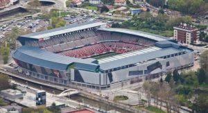 Vista aérea del estadio El Molinón (AGENCIAS)