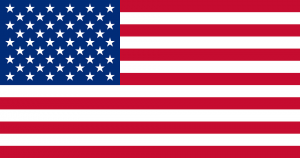 Bandera de los Estados Unidos (Wikipedia).