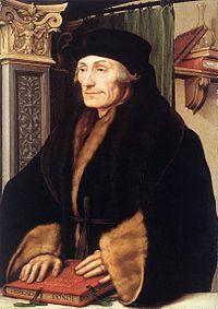Retrato del filósofo y humanista neerlandés Erasmo de Rotterdam