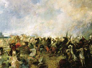 La Batalla de Guadalete por Salvador Martínez Cubells