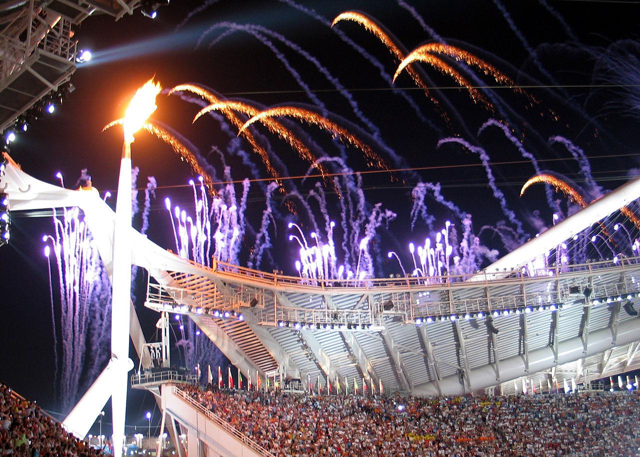 Apertura de los Juegos Olímpicos en Atenas 2004.