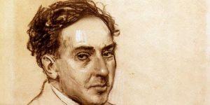 Retrato del poeta español Antonio Machado.
