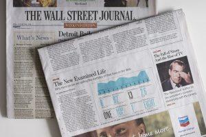 Edición impresa de 'The Wall Street Jornal'.