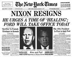 """Nixon renuncia"". (THE GOVERNMENT RAG)."