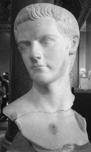 Busto del emperador romano Cayo Calígula.