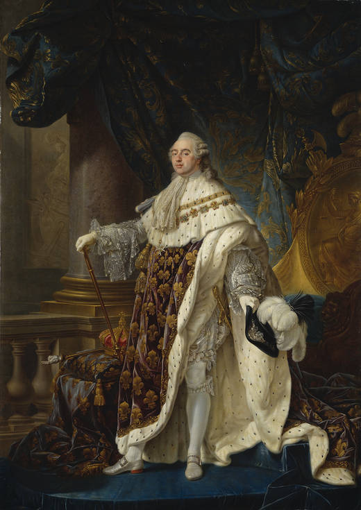 El monarca francés Luis XVI