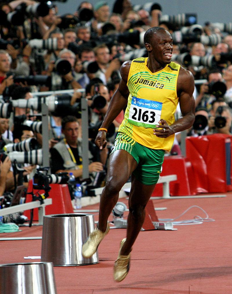 Usain Bolt, especialista en pruebas de velocidad.