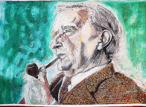 Retrato de J.R.R. Tolkien (Wikipedia).