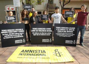 Amnistía Internacional presenta la campaña 'Mi cuerpo, mis derechos' (Toni Garriga/EFE).