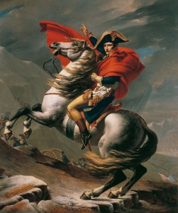Napoleón cruzando los Alpes, obra de Jacques-Louis David.
