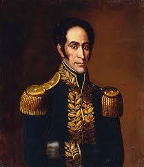 Retrato de Simón Bolívar.