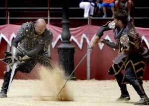 Torneo de Justas que se celebra en la plaza de María Pita de A Coruña.