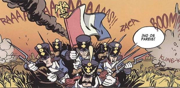 Viñeta del cómic de La Sombra del Águila (Galland Books, 2012)