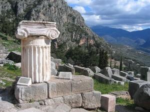 Los restos arqueológicos de Delfos.