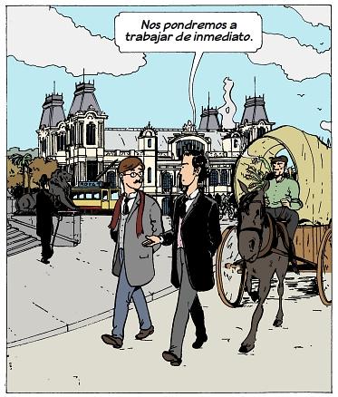 Viñeta de un cómic de