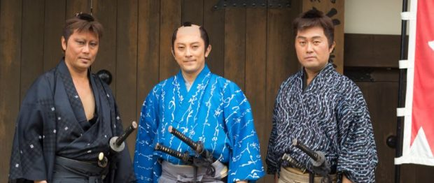 Actores caracterizados como samuráis en unos estudios de cine de Kyoto (WIKIPEDIA)