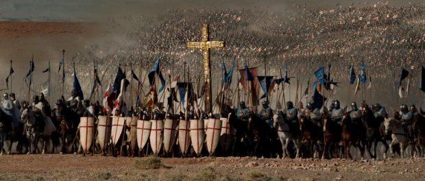 Cruzados en un fotograma de la película 'El reino de los cielos' (2005)