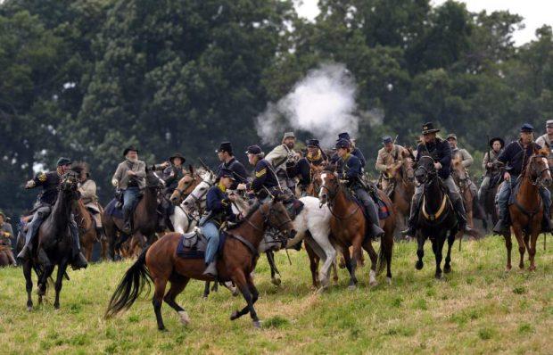 Recreación por el 150 aniversario de la Batalla de Gettysburg (Erik S. Lesser / EFE)