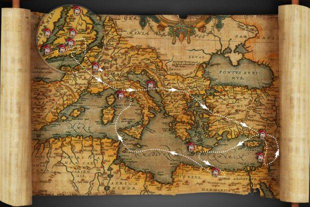 Mapa de las aventuras de Cato y Macro (http://www.catoandmacro.com/)