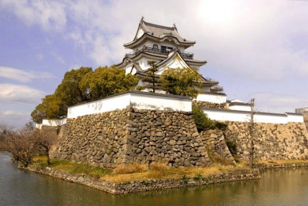 Castillo Kishiwada, de Osaka (Japón).
