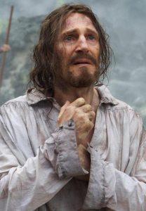 El actor Liam Neeson, en la adaptación cinematográfica de 'Silencio' (2016).