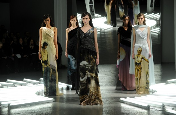 The Rodarte 2014 collection is modeled during Fashion Week in New York, Tuesday, Feb. 11, 2014.