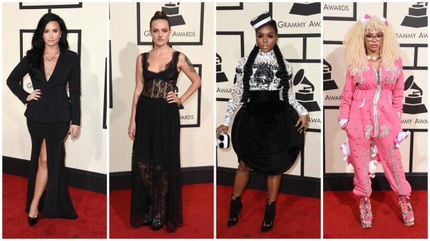 Demi Lovato,Tove Lo, Janelle Monae y Dencia. GTRES