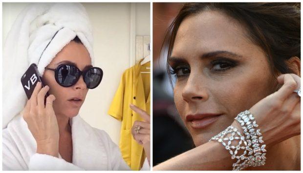 Victoria Beckham, divina hasta con la toalla enrollada en la cabeza. YOUTUBE/GTRES