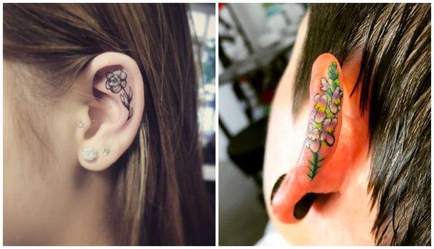 El Cartílago De La Oreja El Nuevo Lugar De Moda Para Tatuarse