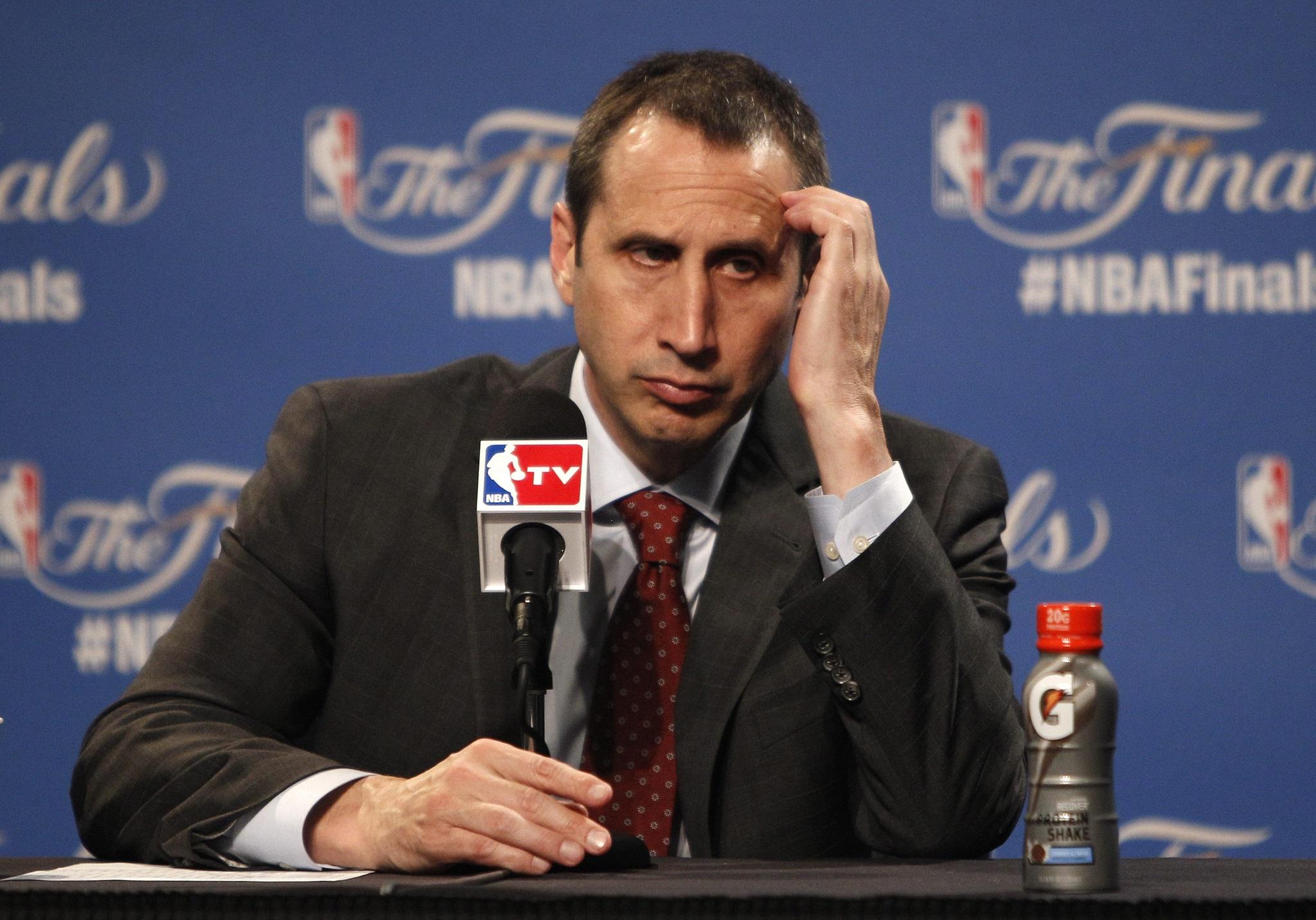 David Blatt, en una imagen captada en una rueda de prensa de las últimas finales de la NBA (EFE).
