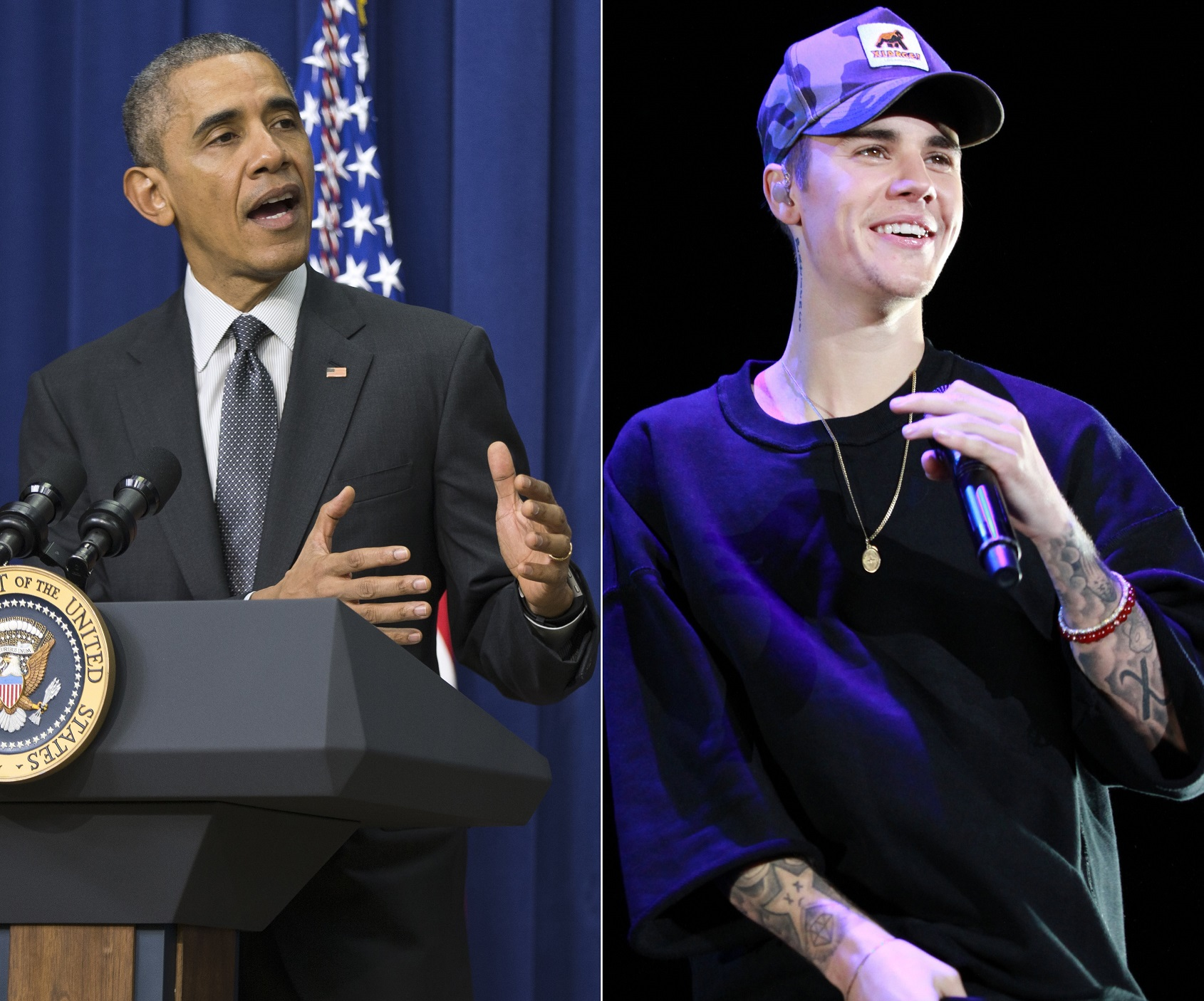 Barack Obama y Justin Bieber (GTRES).
