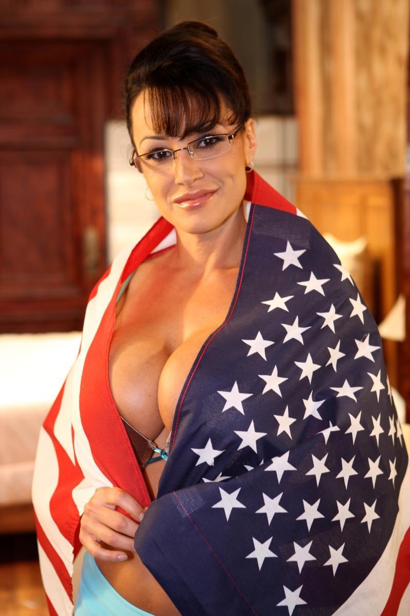 Lisa Ann, disfrazada de Sarah Palin para un rodaje porno en 2008 (GTRES).