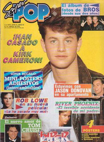 Kirk Cameron en la portada de Súper Pop