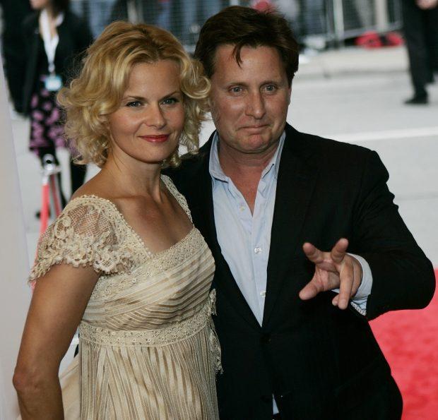 Emilio Estevez y Sonja Magdevski