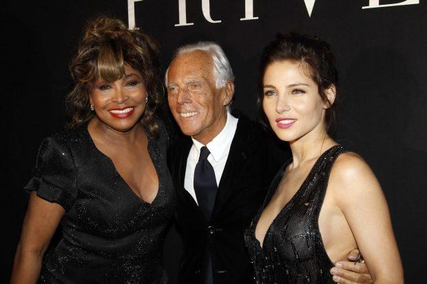 Tina Turner, Giorgio Armani y Elsa Pataky