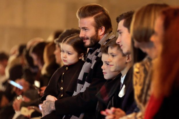 David Beckham, Harper, Cruz, Romeo y Brooklyn