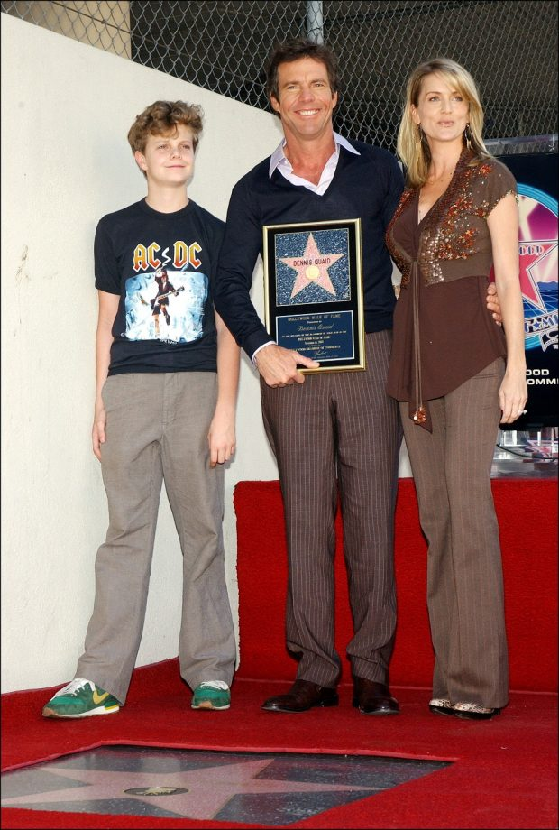 Dennis Quaid, Kimberly Buffington y Jack Quaid
