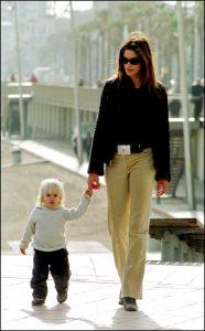 Cindy Crawford y su hijo Presley