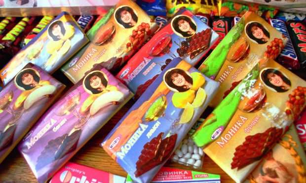 """barritas de chocolate """"Monica"""