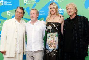 Edward James Olmos, Ridley Scott, Daryl Hannah y Rutger Hauer