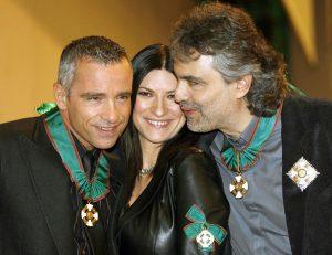 Trío de grandes voces italianas: Pausini, Ramazzoti y Bocelli