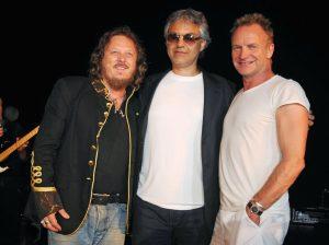 Bocelli con otros dos grandes