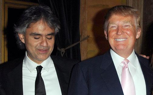 El tenor ciego y el millonario norteamericano, unidos por la televisión