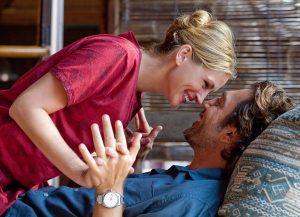 Bardem y Julia Roberts, mucha complicidad en Come reza ama