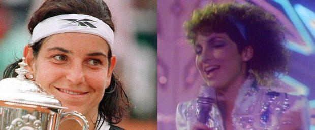 La cantante caribeña y la tenista española