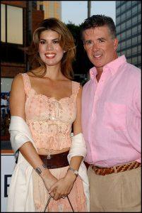 El actor Alan Thicke y su tercera mujer, Tanya Callau