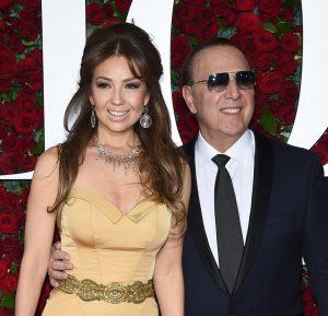 Thalia y Tommy Mottola EN LOS pREMIOS tONY